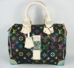 Canvas Monogram Louis Vuitton Speedy 30 multicolor Replica Black Handbag M92642