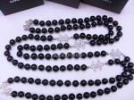 Chanel Black Diamond Pearl Necklace Replica