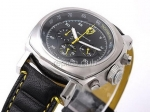 Replica Ferrari Watch Working Chronograph Quartz Black Dial and Black Leather Strap-New Version - BWS0361