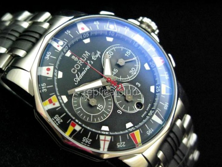 Корум адмиралы Кубок Chronograph Swiss Watch реплики #5