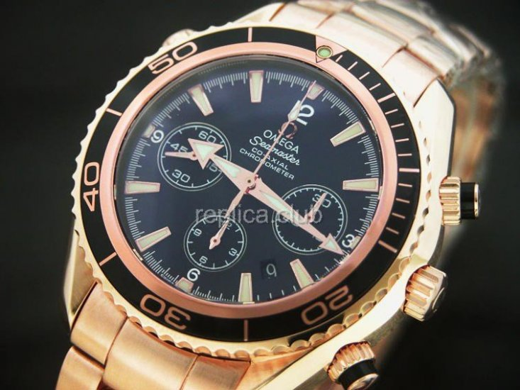 Omega Planet Ocean Chronograph Swiss Replica Watch