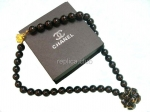 Chanel Black Pearl Necklace Replica #2
