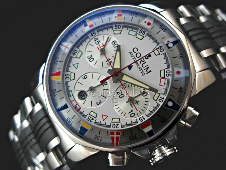 Корум адмиралы Кубок Chronograph Swiss Watch реплики #2