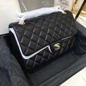 Chanel Classic Double Flap Bag – Smooth & Medium & Black