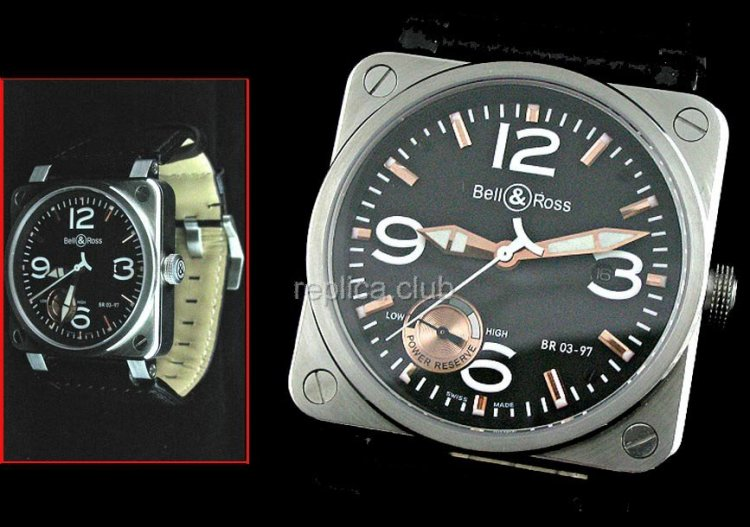 Bell & Ross Instrument BR03-97 Power Reserve Swiss Replica Watch movment