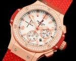 Hublot Big Bang Valentine Diamonds réplica cronógrafo suíço