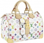 Canvas Monogram Louis Vuitton Speedy 30 multicolor Replica White M92643 Handbag