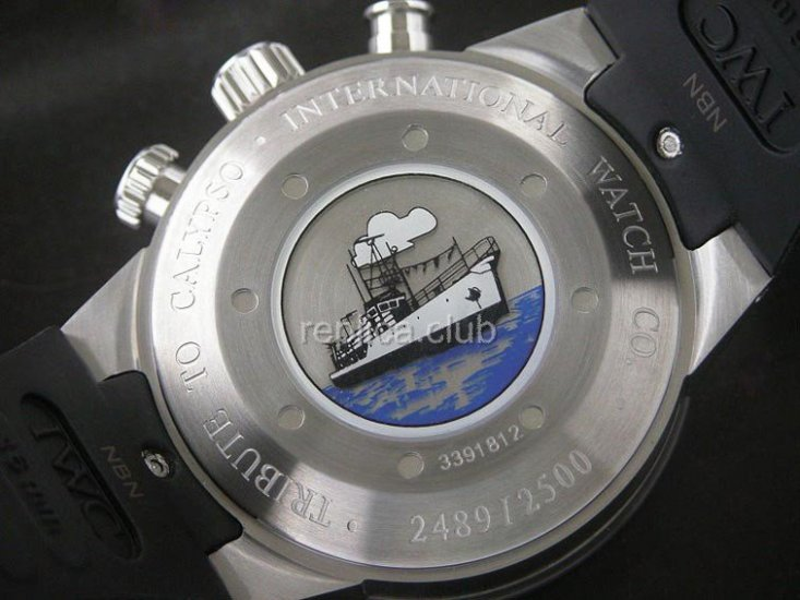 Special Edition IWC Aquatimer Chronographe Cousteau Divers Replica Watch suisse