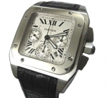 Cartier Santos 100 Chronograph Swiss Replica Watch #1