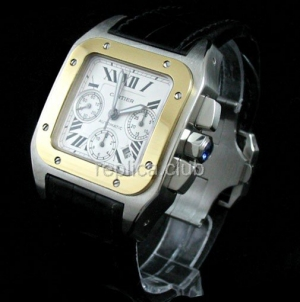 Cartier Santos 100 Chronograph Swiss Replica Watch #2