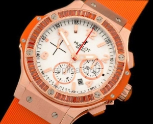 "Hublot Big Bang ""Orange Carat"" Diamonds réplica cronógrafo suíço"