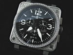 Bell and Ross Instrument BR01-94 Cronograph Diamonds Swiss movment
