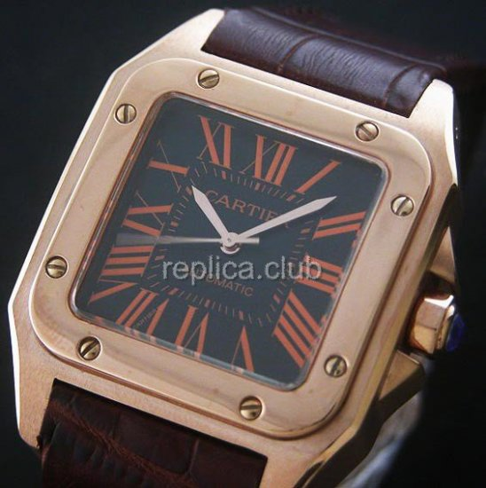 Santos Cartier 100 Mens Replica Watch suisse #1