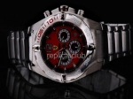 Replica Ferrari Watch working Chronograph Quartz Movement Red Dial and ssband Strap - BWS0357