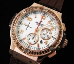 Hublot Big Bang Cappuccino Diamonds Chronograph Swiss replica