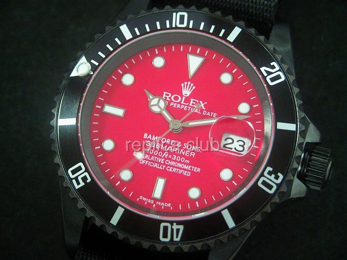 Rolex Submariner Red Swiss Replica Watch #1