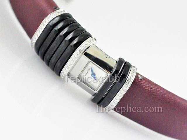 Cartier Erklärung Diamond Damenuhr Swiss Replica #1