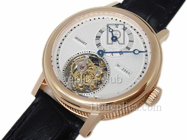 Breguet Turbilhão Salmon Jubileu Regulatuer Real Swiss Replica Watch #4