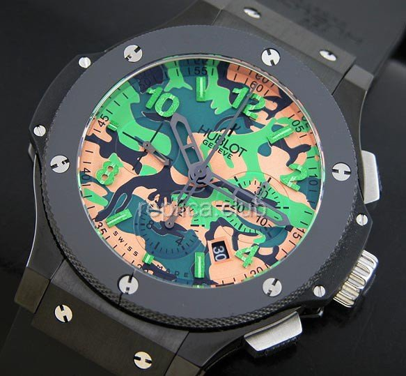Hublot Commando Bang Green Camouflage Limited Edition replica suíço